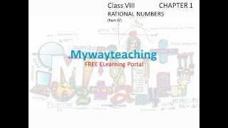 Math Class 8 Chapter 1 Part IV(Rational numbers)|Rational numbers for class 8