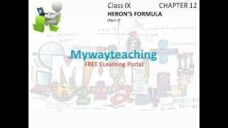Math Class 9 Chapter 12 Part II|HERON'S FORMULA|HERON'S FORMULA for class 9|