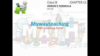 Math Class 9 Chapter 12 Part III|HERON'S FORMULA|HERON'S FORMULA for class 9|