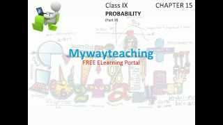 Math Class 9 Chapter 15 Part II|PROBABILITY|PROBABILITY for class 9|