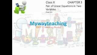 Math Class 10 Chapter 3 Part VII|Pair of linear equations in two variables|