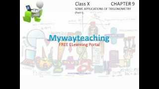 Math Class 10 Chapter 9 Part I|SOME APPLICATIONS OF TRIGONOMETRY for class 10|