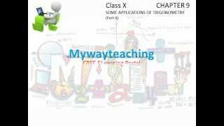 Math Class 10 Chapter 9 Part II|SOME APPLICATIONS OF TRIGONOMETRY for class 10|