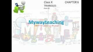 Math Class 10 Chapter 6 Part IV|Triangles|Triangles for class 10|