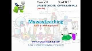 Math Class 8 Chapter 3 Part IV  Understanding Quadrilaterals for class 8