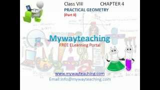 Math Class 8 Chapter 4 Part II|Practical Geometry for class 8