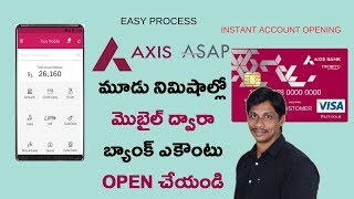 Open Axis Bank account just in 3 mins ||Telugu Tech Tuts