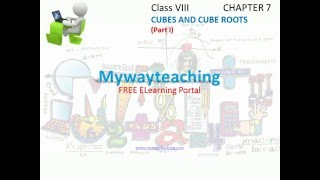 Math Class 8 Chapter 7 Part I Cubes and Cube roots cubes and cube roots for class 8