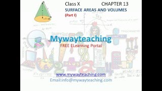 Math Class 10 Chapter 13 Part I|Surface areas and volumes|Surface areas and volumes for class 10