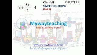 Math Class 7 Chapter 4 Part II|Simple equations| Simple equations for class 7|