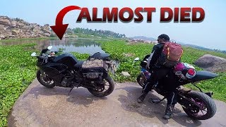 WE RODE OUR KTM RC390 & CBR 250R ON WATER | HAMPI - KARNATAKA
