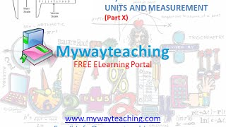 Physics Class 11 Chapter 2 Part X UNITS AND MEASUREMENT Physics Chapter 2 for Class 11 