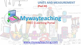 Physics Class 11 Chapter 2 Part XI UNITS AND MEASUREMENT Physics Chapter 2 for Class 11 