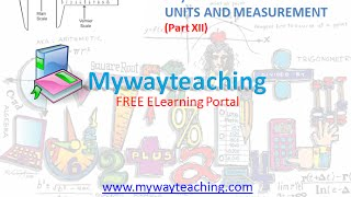 Physics Class 11 Chapter 2 Part XII UNITS AND MEASUREMENT Physics Chapter 2 for Class 11 