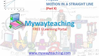 Physics Class Chapter 3 Part X MOTION IN A STRAIGHT LINE Physics Chapter 3 for Class 11 