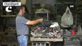 Engineer Pritpal S Matharu has Sculpted Several Mini Robots