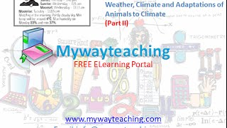 Science Class 7 Chapter 7 Part 2|Weather, Climate and Adaptations of Animals to Climate|