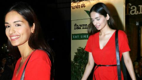 Manushi Chhillar Spotted At Farmer's Cafe In Bandra