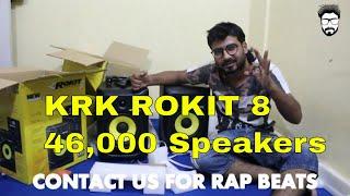 Studio Monitors KRK ROKIT 8   Unbox Video   GURU BHAI   Underground Artist