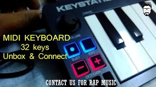 Mini Midi Keyboard 32 Keys | Unbox & Connect | M AUDIO Keystation 32 Keys |