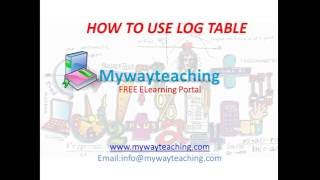 log table|How to use log table|how to see log table|CBSE|