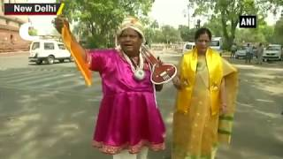 TDP MP Protest Outside of Parliament