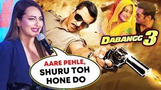 Sonakshi Sinha HILARIOUS Reaction Dabangg 3 Release Date | Salman Khan