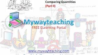 Math Class 7 Chapter 8 Part II| Comparing Quantities | Comparing Quantities for class 7|