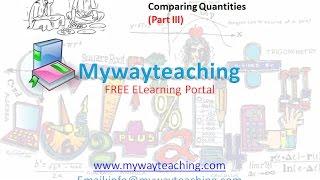 Math Class 7 Chapter 8 Part III| Comparing Quantities | Comparing Quantities for class 7|