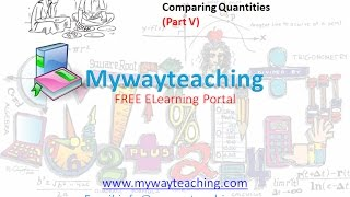 Math Class 7 Chapter 8 Part V| Comparing Quantities | Comparing Quantities for class 7|