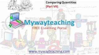 Math Class 7 Chapter 8 Part VII| Comparing Quantities | Comparing Quantities for class 7|