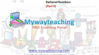Math Class 7 Chapter 9 Part II| RATIONAL NUMBERS| Rational Numbers for class 7|