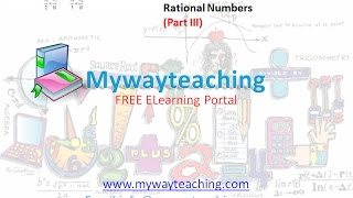 Math Class 7 Chapter 9 Part III| RATIONAL NUMBERS| Rational Numbers for class 7|