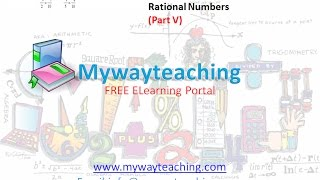 Math Class 7 Chapter 9 Part V| RATIONAL NUMBERS| Rational Numbers for class 7|