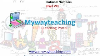 Math Class 7 Chapter 9 Part VII| RATIONAL NUMBERS| Rational Numbers for class 7|