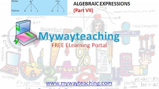 Math Class 7 Chapter 12 Part VII|ALGEBRAIC EXPRESSIONS| ALGEBRAIC EXPRESSIONS for class 7|