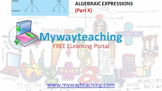 Math Class 7 Chapter 12 Part X|ALGEBRAIC EXPRESSIONS| ALGEBRAIC EXPRESSIONS for class 7|