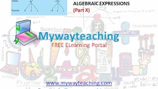 Math Class 7 Chapter 12 Part X|ALGEBRAIC EXPRESSIONS| ALGEBRAIC EXPRESSIONS for class 7|
