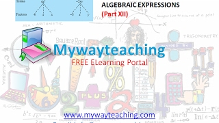Math Class 7 Chapter 12 Part XII|ALGEBRAIC EXPRESSIONS| ALGEBRAIC EXPRESSIONS for class 7|