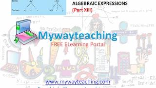 Math Class 7 Chapter 12 Part XIII|ALGEBRAIC EXPRESSIONS| ALGEBRAIC EXPRESSIONS for class 7|