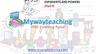 Math Class 7 Chapter 13 Part II|EXPONENTS AND POWERS| EXPONENTS AND POWERS for class 7|