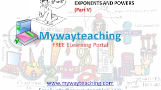 Math Class 7 Chapter 13 Part V|EXPONENTS AND POWERS| EXPONENTS AND POWERS for class 7|
