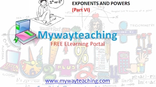 Math Class 7 Chapter 13 Part VI|EXPONENTS AND POWERS| EXPONENTS AND POWERS for class 7|