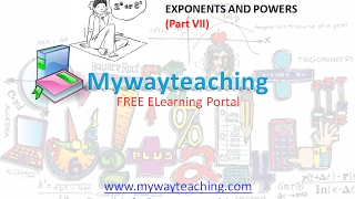 Math Class 7 Chapter 13 Part VII|EXPONENTS AND POWERS| EXPONENTS AND POWERS for class 7|