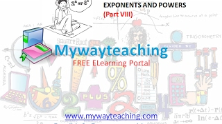 Math Class 7 Chapter 13 Part VIII|EXPONENTS AND POWERS| EXPONENTS AND POWERS for class 7|
