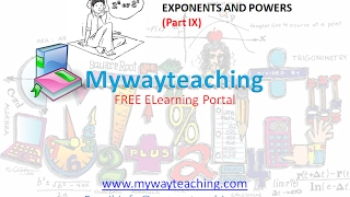 Math Class 7 Chapter 13 Part IX|EXPONENTS AND POWERS| EXPONENTS AND POWERS for class 7|