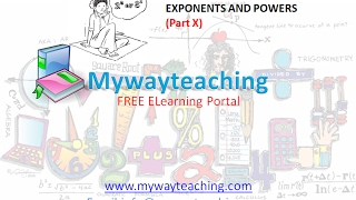 Math Class 7 Chapter 13 Part X|EXPONENTS AND POWERS| EXPONENTS AND POWERS for class 7|