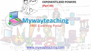 Math Class 7 Chapter 13 Part XII|EXPONENTS AND POWERS| EXPONENTS AND POWERS for class 7|