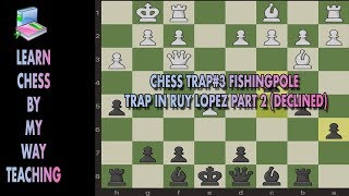 Chess Trap #3 Fishing Pole Declined Trap in Ruy Lopez | Fishing Pole Trap Part 2