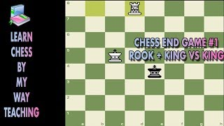 Chess Endgame #1 Rook and King Vs King